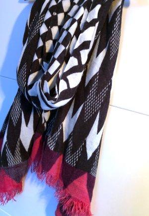 Zara Sciarpa di lana multicolore Fibra tessile