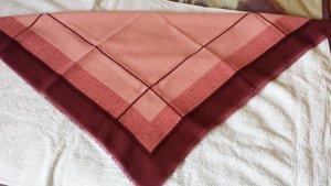 Tuch aus Wolle Carre / Kaschmir ca. 80 x 80 weich Rottöne