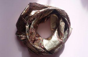 Vintage Kerchief bronze-colored-gold-colored