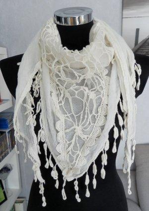 Tuch Creme-Weiß 160 x 63 cm