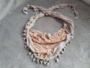 Fazzoletto da collo beige chiaro-talpa Tessuto misto