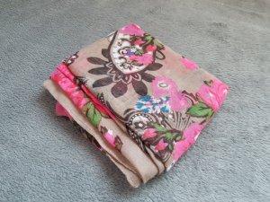 Tuch Dreieck Taupe Braun Rosa Waldgrün