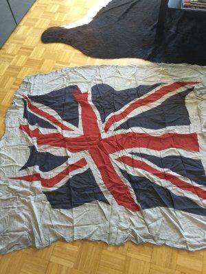 Tuch Flagge grau/blau/rot neu!!!