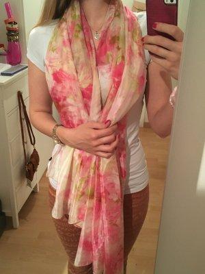Tuch gemustert rosa grün