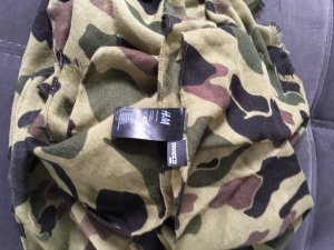 H&M Divided Foulard multicolore tissu mixte