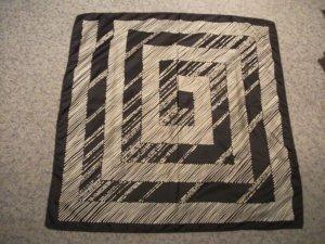 Tuch / Halstuch - 74 x 74 cm - schwarz / weiß