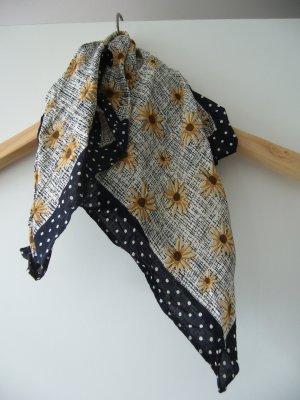 Tuch Halstuch klein beige braun schwarz floral