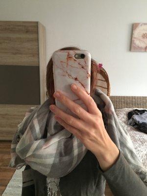 Tuch Halstuch Schal grau rosa weiß karos kariert