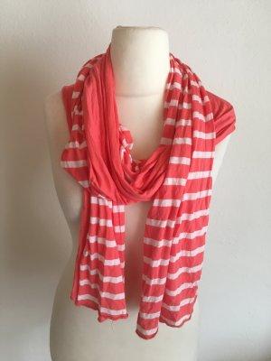 Tuch Halstuch Schal rot weiß hellrot süß