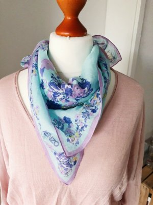 Kenzo Neckerchief light blue-purple cotton