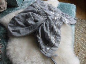 Scialle argento-grigio chiaro Cotone