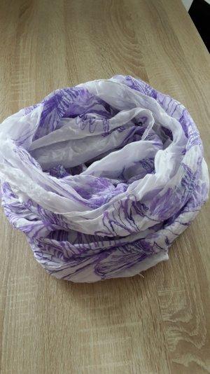 Tuch in den Farben lila / weiß