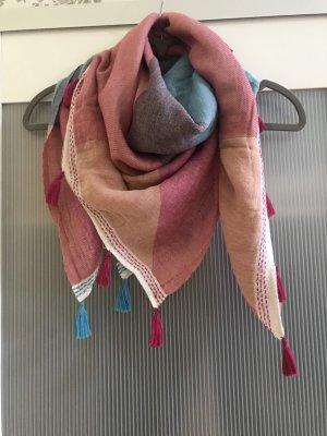 Tuch in pink und blau