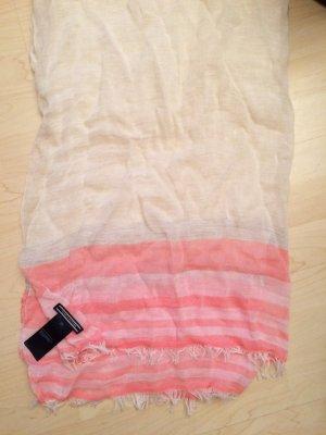 Tuch in Weiß-Rosa von Tommy Hilfiger - NEU!