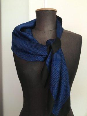 Tuch Kopftuch aus Italien Royalblau schwarz