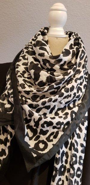 H&M Summer Scarf white-black