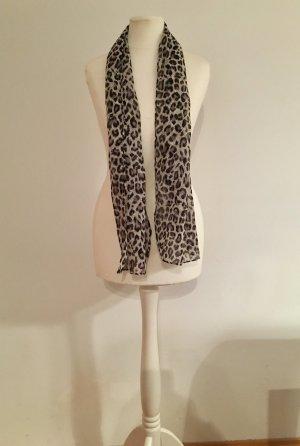 Tuch // Leopard-Muster, schwarz/weiß