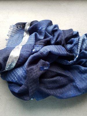 Cecil Tube Scarf silver-colored-blue