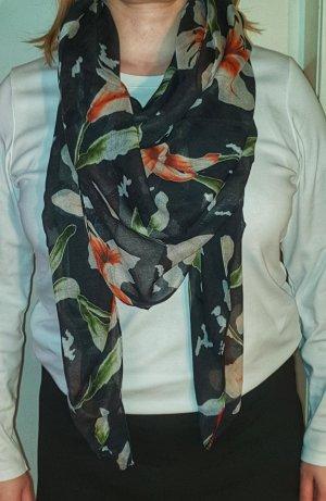 Tuch mit Blumendruck, 140 x 140 cm von HUGO Hugo Boss