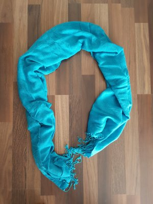 Fringed Scarf light blue-baby blue