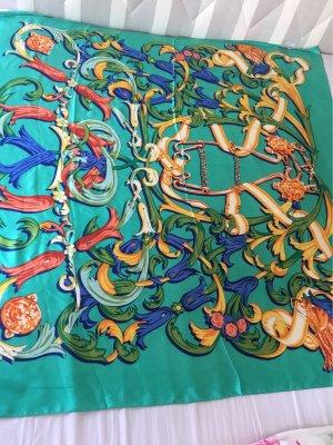 Foulard en soie multicolore polyester