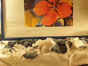 Tuch mit Schmetterlingen, Länge 170 cm , Breite 50 cm