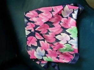 Châle bleu foncé-rose polyester
