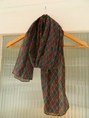 Tuch Muster lang Schultertuch grün rot kariert