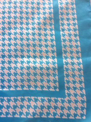 Neckerchief white-azure polyester