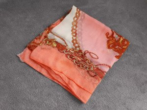 Tuch Orange Rostrot Oriental Kettenmuster