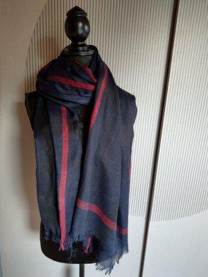 Fazzoletto da collo blu scuro-rosso scuro