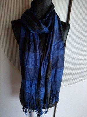 Halsdoek blauw-zwart