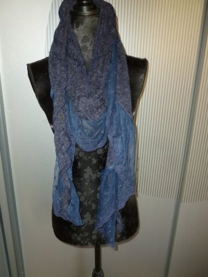 Sciarpa lavorata a maglia blu acciaio Viscosa