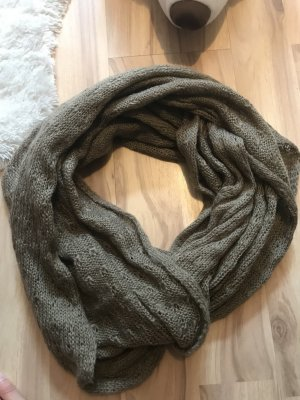 Knitted Scarf bronze-colored