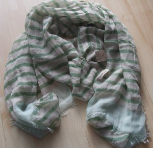 Codello Summer Scarf natural white-lime-green polyester