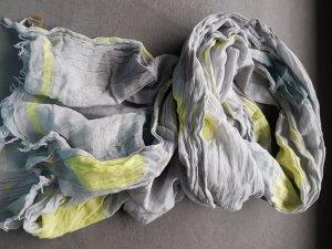 Tuch Schal Grau Gelb