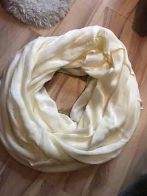 Tuch Schal hell weiß helles gelb beige one size neu Halstuch Schlauchschal
