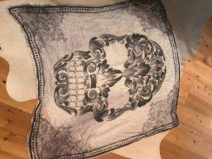 Tuch/Schal in grau weißem Dessin