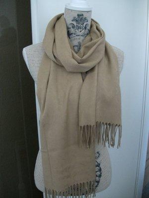 Tuch / Schal mit Fransen, 180x50cm, camel / braun