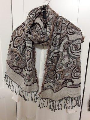 Tuch / Schal mit Paisley-Muster, beide-braun