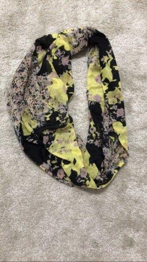 Tuch Schal pieces Rundschal Loop-Schal schwarz gelb rosa