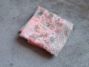 Tuch Schal Rosa Mint Weiß Taupe