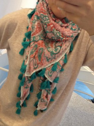 Tchibo / TCM Knitted Scarf multicolored cotton