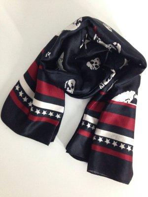 Tuch Schal schwarz/weiß/rot