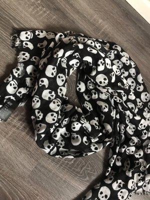 Tuch Schal totenkopf weiß schwarz neu Halstuch