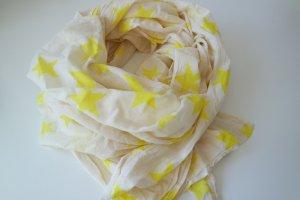 Tuch, Schal von S. Oliver, cremefarben mit gelben Sternen