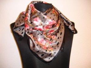 Emanuel Ungaro Silk Cloth neon pink-light grey silk
