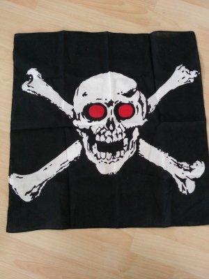 Tuch Totenkopf Skull aus Amsterdam schwarz weiss rot
