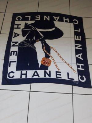 Chanel Doek wit-blauw