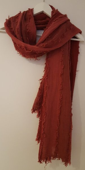 edc by Esprit Fringed Scarf brick red